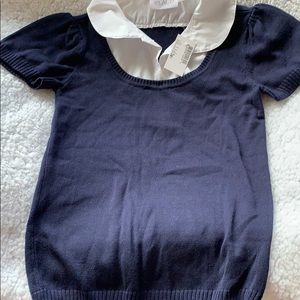 Children's place faux layered sweater
